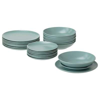 FÄRGKLAR Service, 24 pièces, mat turquoise clair