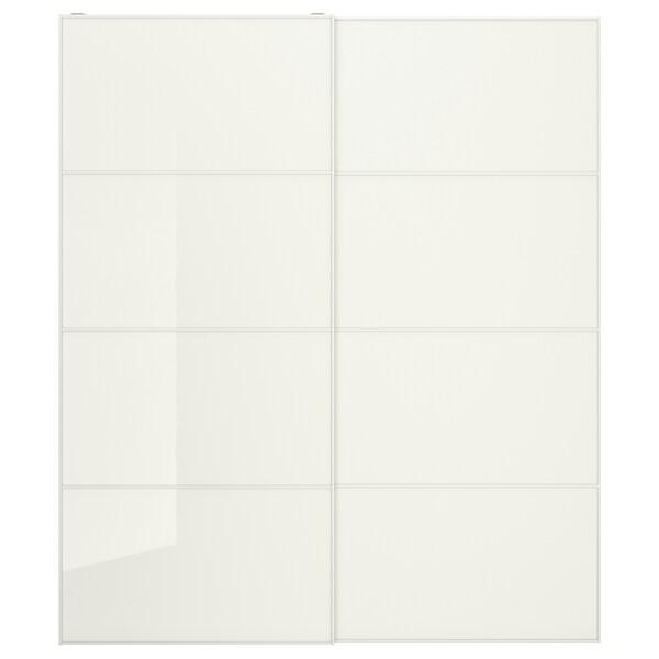 FÄRVIK Jeu 2 ptes coul, verre blanc, 200x236 cm