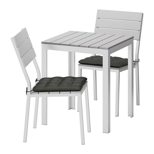 falster table 2 chaises ext rieur falster gris h ll noir ikea. Black Bedroom Furniture Sets. Home Design Ideas