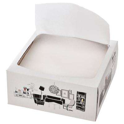 FAMILJ Serviettes en papier, blanc, 16x32 cm