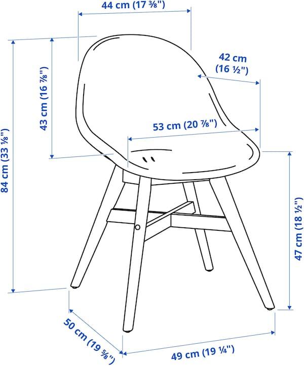 FANBYN Chaise, gris/intérieur/extérieur