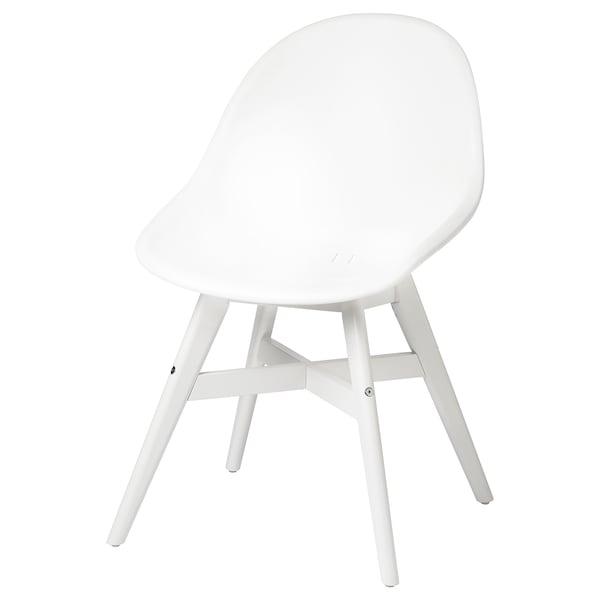 FANBYN Chaise, intérieur/extérieur, blanc/blanc