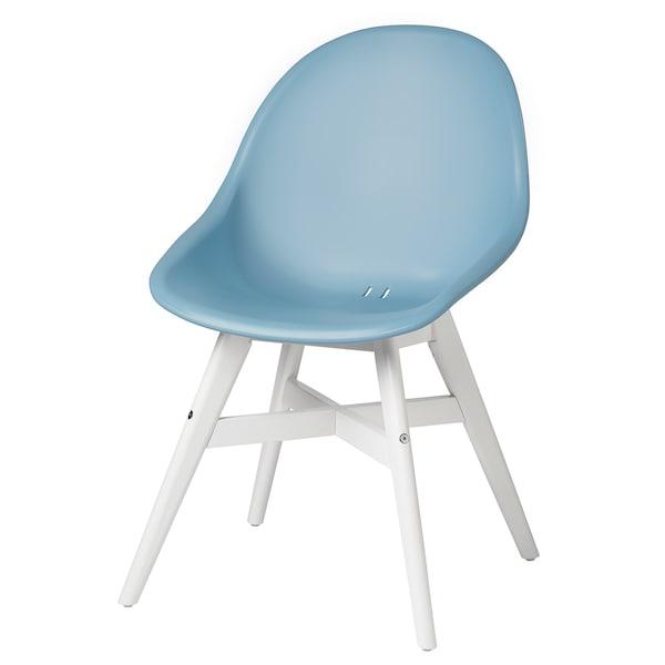 FANBYN Chaise, intérieur/extérieur, bleu clair/blanc