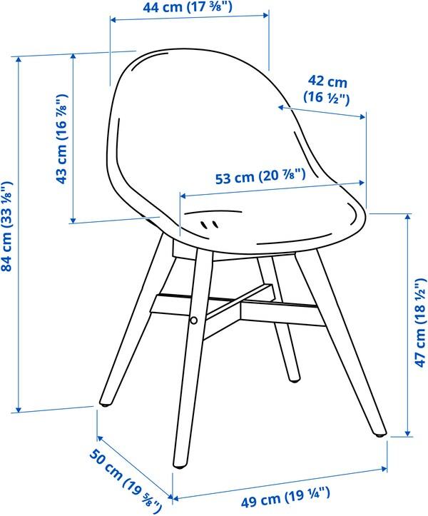 FANBYN Chaise, intérieur/extérieur, gris/blanc