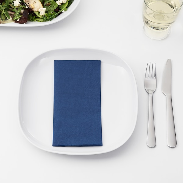 FANTASTISK serviettes en papier bleu foncé 40 cm 40 cm 50 pièces