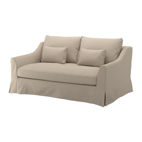 F rl v canap 2 places flodafors beige ikea for Canape 2 places ikea