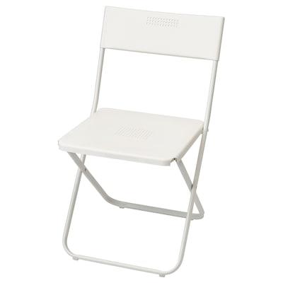 FEJAN Chaise, extérieur, pliable blanc
