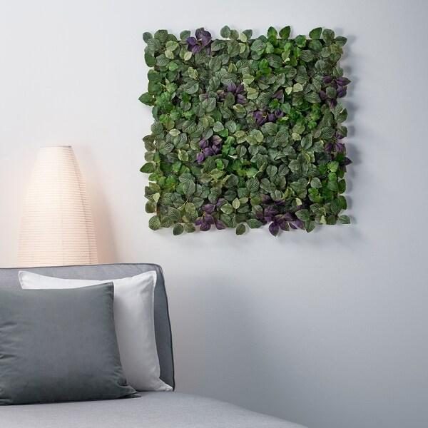 FEJKA Plante artificielle, fixation murale/intérieur/extérieur vert/mauve, 26x26 cm