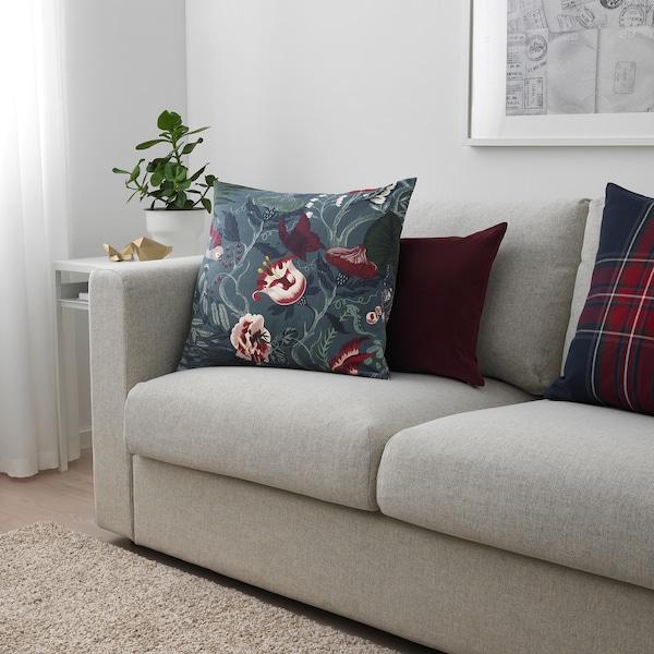 FILODENDRON tissu au mètre bleu foncé/à motif floral 230 g/m² 150 cm 29 cm 1.50 m²