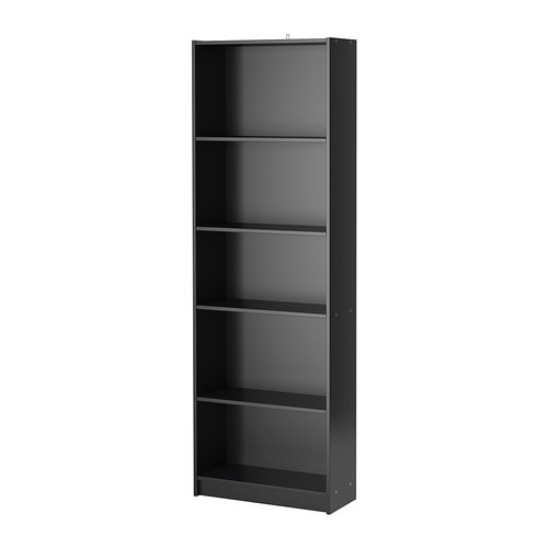 finnby biblioth que noir ikea. Black Bedroom Furniture Sets. Home Design Ideas