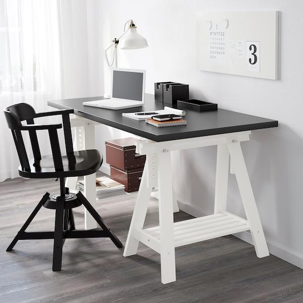 Finnvard Treteau Avec Etagere Blanc 70x71 93 Cm Ikea