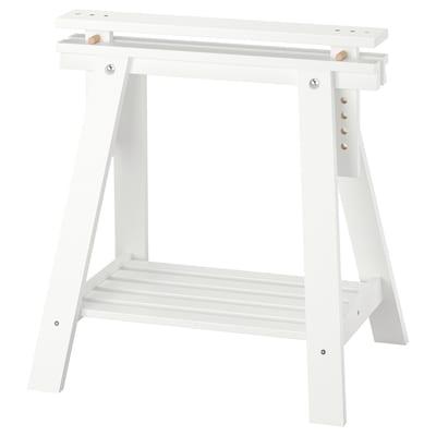 FINNVARD Tréteau avec étagère, blanc, 70x71/93 cm