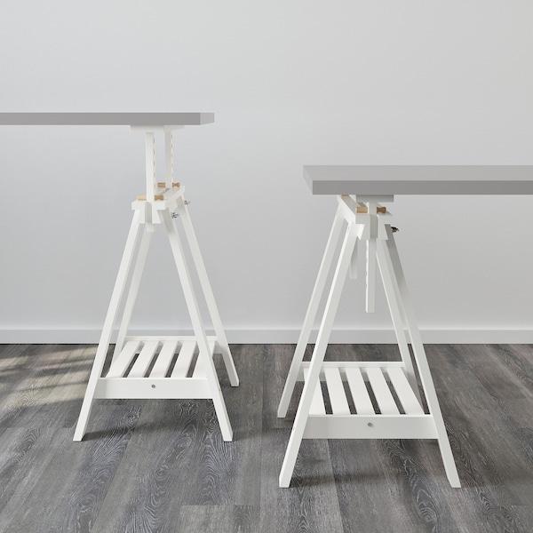 IKEA FINNVARD Table tréteau avec étagère en blanc: