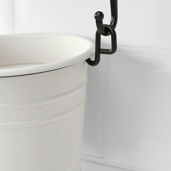 FINTORP Égouttoir à couverts, blanc/noir, 13x13 cm
