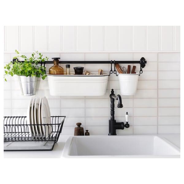 FINTORP Range-épices, blanc/noir, 37x13 cm
