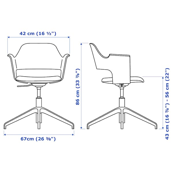 FJÄLLBERGET Chaise conférence, plaqué chêne blanchi/Gunnared beige