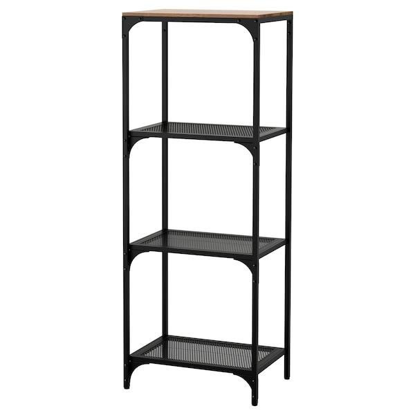 FJÄLLBO Étagère, noir, 51x136 cm