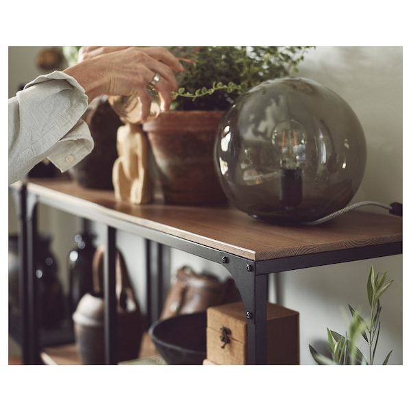 FJÄLLBO Étagère, noir, 100x136 cm