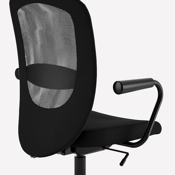 FLINTAN / NOMINELL Chaise de bureau av accoudoirs, noir