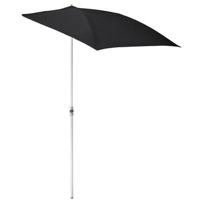 FLISÖ parasol noir 160 cm 100 cm 32 mm 150 cm 230 cm 170 g/m²