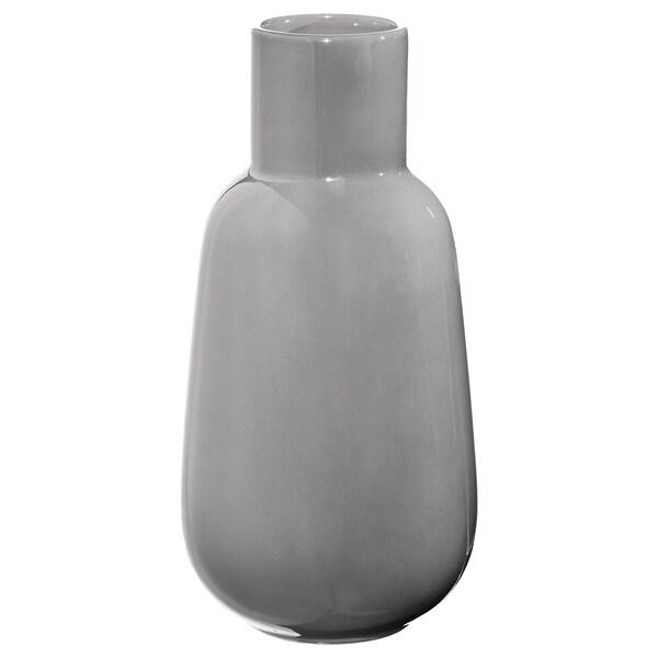 FNITTRIG Vase, gris, 26 cm