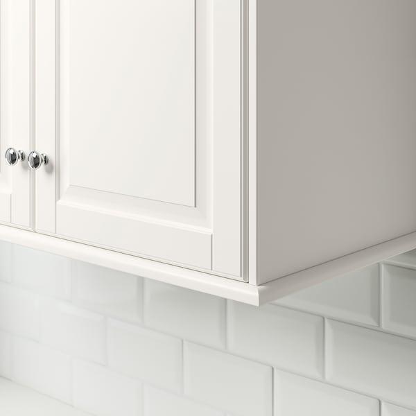 FÖRBÄTTRA Bandeau décor arrondi, blanc cassé, 221 cm