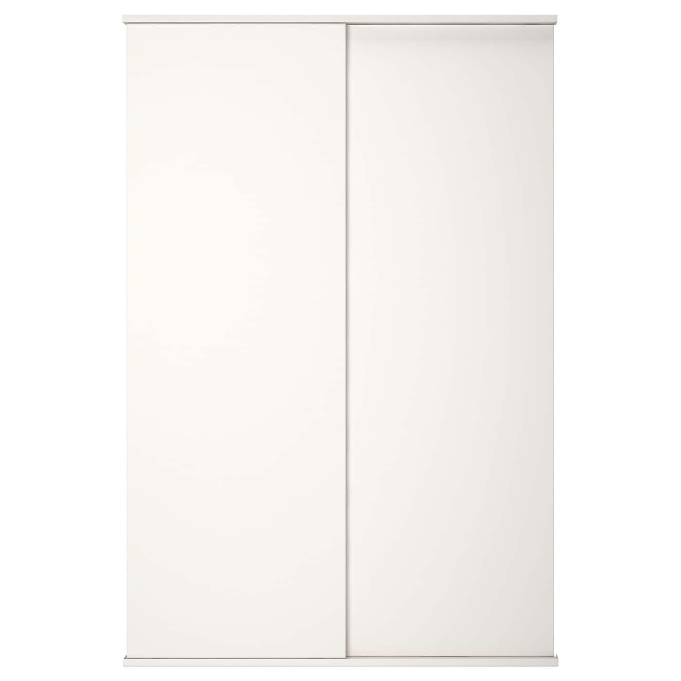 Fonnes Porte Coulissante Avec Rail Blanc 120x180 Cm Ikea
