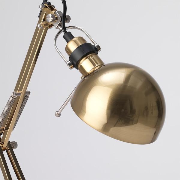 FORSÅ Lampe de bureau, couleur laiton
