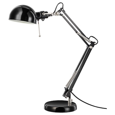 FORSÅ lampe de bureau noir 40 W 35 cm 15 cm 12 cm 1.8 m