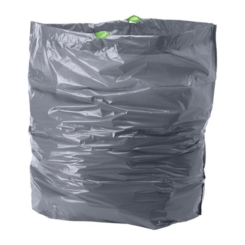 FÖRSLUTAS Sacs poubelle IKEA La poignée permet de refermer et de transporter le sac aisément.