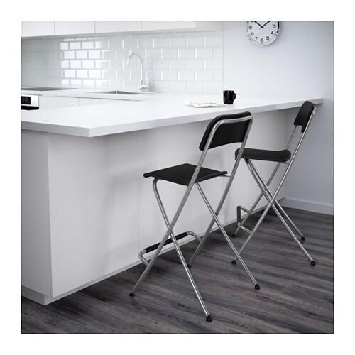 franklin tabouret de bar dossier pliant 63 cm ikea. Black Bedroom Furniture Sets. Home Design Ideas