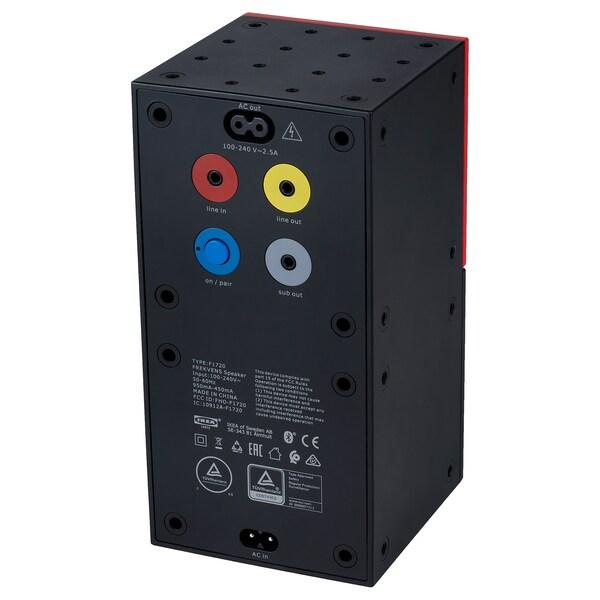 FREKVENS Enceinte, noir/rouge, 10x20 cm