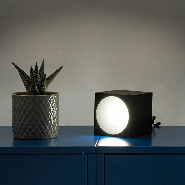 FREKVENS Spot à LED, noir/blanc