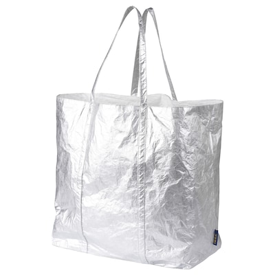 FREKVENS tote bag, grand couleur argent 43 cm 25 cm 45 cm 20 kg 80 l