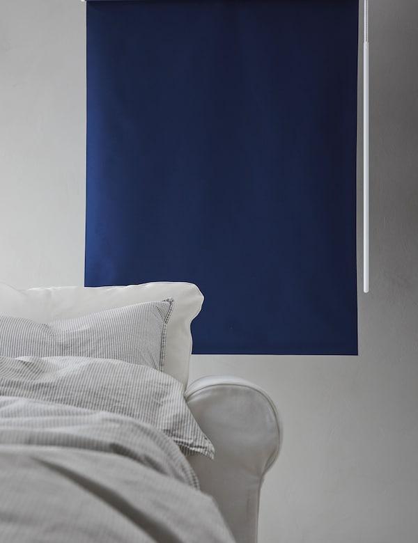 FRIDANS Store à enrouleur occultant, bleu, 100x195 cm