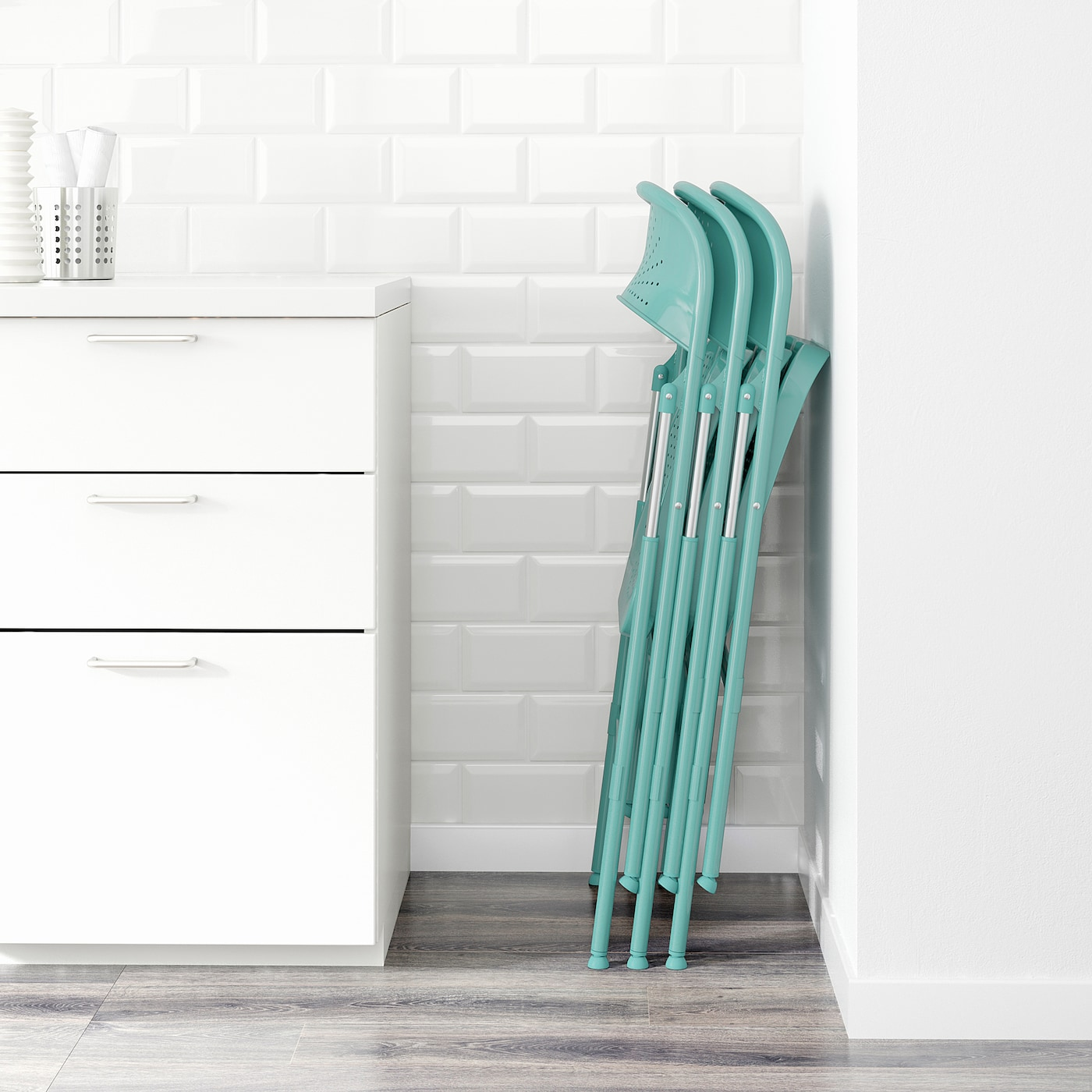 FRODE Chaise pliante, turquoise IKEA
