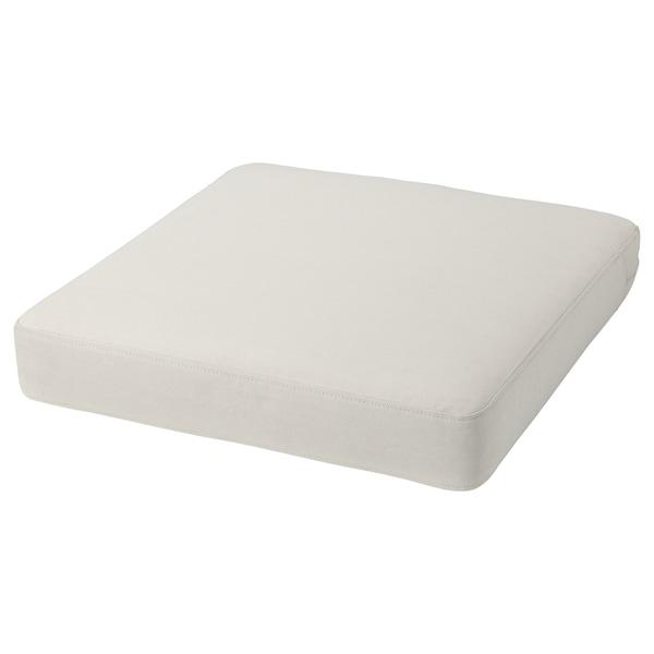 FRÖSÖN/DUVHOLMEN Coussin d'assise, extérieur, beige, 62x62 cm