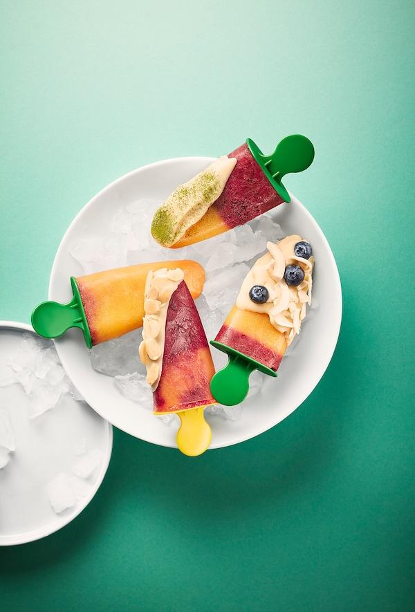 FRUKTSTUND Mélange smoothie prémixé, mangue/ananas à l'argousier/surgelé, 420 g