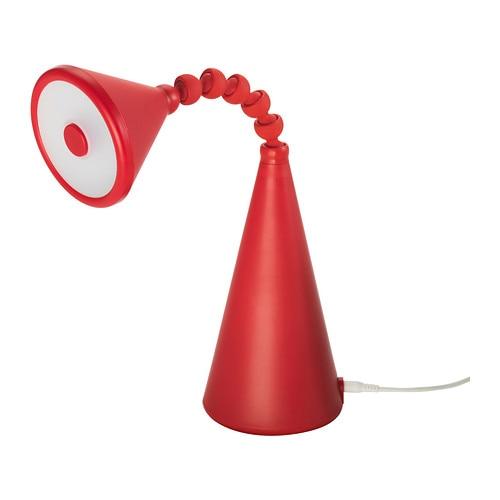fryebo lampe de table led rouge ikea. Black Bedroom Furniture Sets. Home Design Ideas