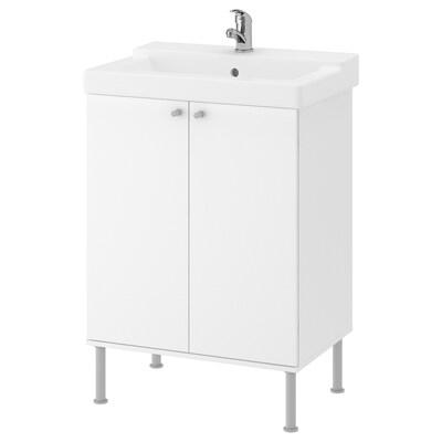 FULLEN / TÄLLEVIKEN Élément lavabo, blanc/Olskär mitigeur lavabo, 61x41x87 cm