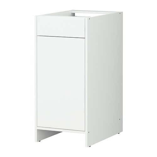 Fyndig l ment bas avec porte et tiroir blanc blanc ikea - Ikea rangement cuisine tiroir ...