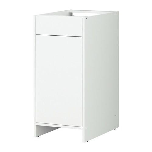 fyndig l ment bas avec porte et tiroir blanc blanc ikea. Black Bedroom Furniture Sets. Home Design Ideas