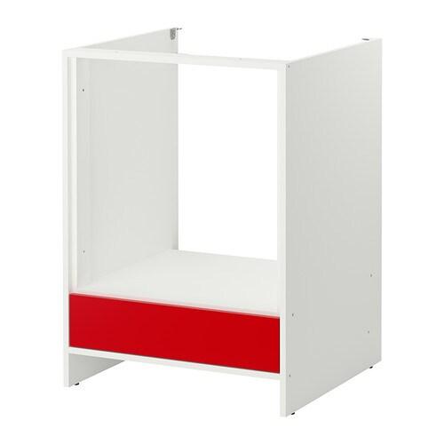 fyndig l ment bas pour four blanc rouge ikea. Black Bedroom Furniture Sets. Home Design Ideas