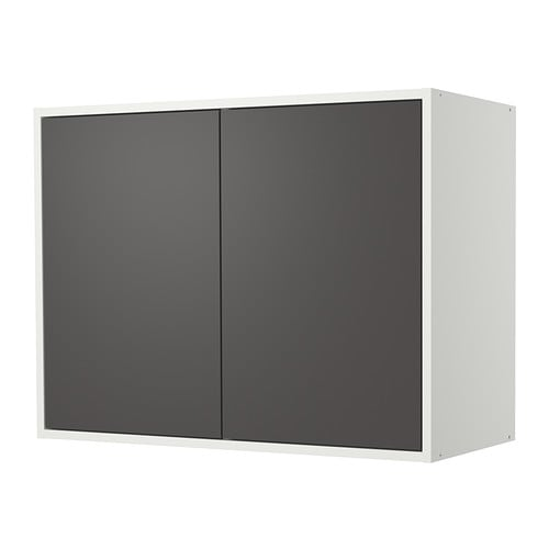 fyndig l ment mural avec portes blanc gris ikea. Black Bedroom Furniture Sets. Home Design Ideas
