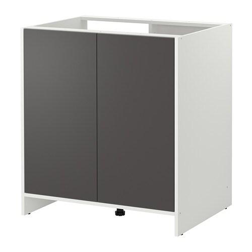 fyndig l ments bas avec portes blanc gris ikea. Black Bedroom Furniture Sets. Home Design Ideas