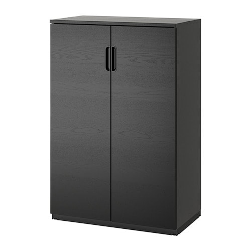 galant armoire avec portes plaqu fr ne teint noir ikea. Black Bedroom Furniture Sets. Home Design Ideas
