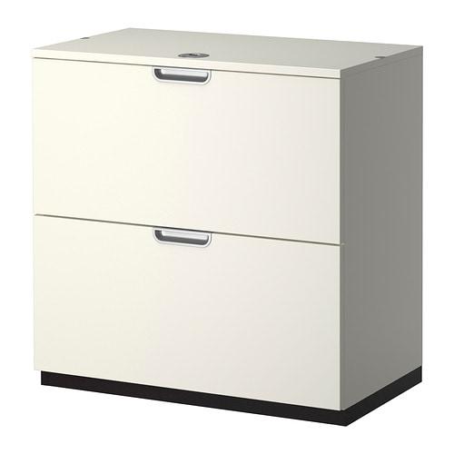 Galant caisson dossiers suspendus blanc ikea for Bureau ikea avec tiroir classeur