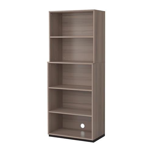galant combinaison de rangement ouverte gris ikea. Black Bedroom Furniture Sets. Home Design Ideas