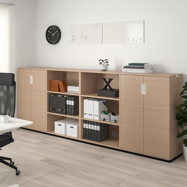 GALANT Combinaison de rangement, plaqué chêne blanchi, 320x120 cm