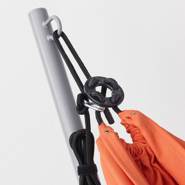 GÅRÖ / RISÖ Hamac avec support, gris/orange pâle